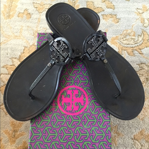 cd9086cc2450 Tory Burch Shoes - Tory Mini Miller Jelly Thong Sandals with Crystals